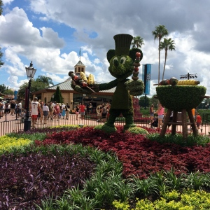 Look for food inspired topiaries in EPCOT